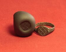Ancient Roman Seal Ring, Finger Ring, 5. Century