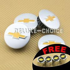 "Set of 4 pc Car Alloy Wheel Center Hub Cap Badge Logo CHEVY 58mm 2 ¼ "" US Seller"