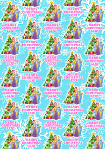 DISNEY PRINCESSES Personalised Christmas Gift Wrap - Princesses Wrapping Paper