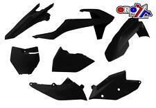 KTM SXF250 SXF350 SXF450  2016 - 2018 BLACK RACETECH PLASTIC KIT