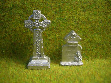 Celtic Cross Gravestones Thomarillion Unpainted Pewter Terrain D&D Dwarven Forge