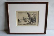 Tableau, aquarelle signée Claude Rameau ( 1876-1955 )  Peintre de Loire