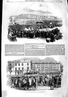 Old Antique Print 1848 Kennington-Common Daugerreotype Blackfriars-Bridge 19th