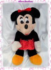 Peluche Doudou Minnie Assis Vintage Jupe Rouge Coeurs Blancs Noeud Walt Disney