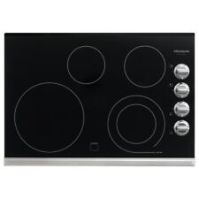 "Frigidaire Gallery 30"" Electric Smoothtop Cooktop Stainless Knobs FGEC3045PS"
