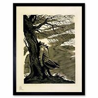 Paintings Heathcliff Wuthering Heights Bronte Black White 12X16 Framed Art Print