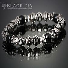 GUNTWO Korean Mens Fashion Bracelets - Biker Bead Metal Chain Bracelet B5246 UK