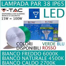 V-TAC LAMPADA LAMPADINA FARETTO FARO LED E27 PAR38 SMD 15W=100W ip65