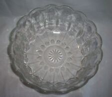 CRYSTAL SERVING BOWL SCALLOPED EDGES