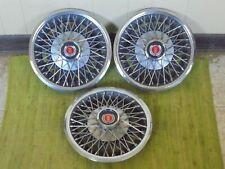 "77 78 79 80 Ford Mercury Wire Spoke Hub Caps 13"" Set of 3 1977 1978 1979 1980"