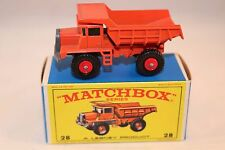 Matchbox Lesney 28 Mack Dump truck very near mint in box all original