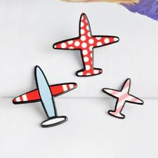 Fashion Acrylic Pins Aircraft Airplane Plane Brooch set Red Pink Blue Backpack