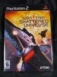 Star Trek: Shattered Universe Playstation 2 PS2 Video Game Complete Black Label