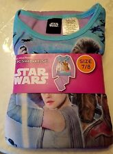 New Girls Disney STAR WARS  Flannel Pajamas 2 piece Sleep wear Set Size 7/8 7 8