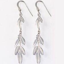 Victory Laurel Sterling Silver Greek Earrings (32mm) w/ French Hooks
