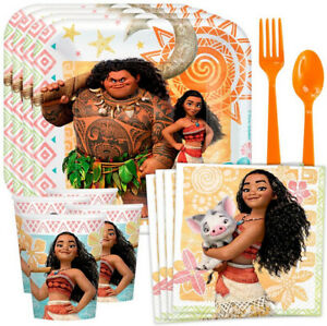Disney MOANA Birthday Party Kit for 8 guests Plates Napkins Cups Tablecloth +