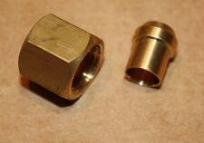 """Qty 2 x Solder Olive/Nipple and Gland Nut for Copper Pipe 1/4""""BSP x 1/4"""" Tube"""