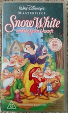 WALT DISNEY MASTERPIECE SNOW WHITE & THE SEVEN DWARFS RARE CLASSIC COLLECTOR VHS