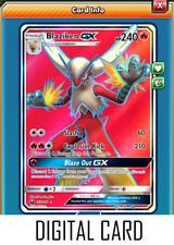 Pokemon TCG ONLINE Blaziken GX (DIGITAL CARD) Celestial Storm Ultra Rare