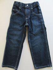 LEE Boy's Blue Jeans 4 Slim Kid's Adjustable Waist Bands Childs Denim Pants EC