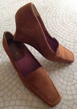 ANN MARINO MUSE CIGAR SUEDE BROWN WOMEN SHOES SIZE 8