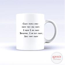 Jack Sparrow cita Loco pirata de cumpleaños regalo de té café taza Taza De Oficina Divertido Nuevo