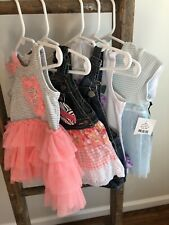 Baby Girls Dress Lot Of 5 Summer Outfits Size 3-18 Months