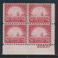 SCOTT 698 1931 20 CENT GOLDEN GATE REGULAR ISSUE LR PB OF 4 MNH OG F-VF CAT $60!