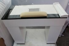 VBH Manicure Table Marble Top Black White with 2 x 36-Watt UVLamp