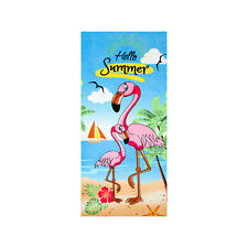 Flamingo Beach Towel, 100% Turkish Cotton 30 x 60 Soft Bath Towel