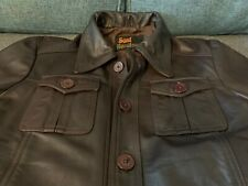 """Soul Revolver Brown Italian Leather Jacket - """"The Haymaker"""" Small"""