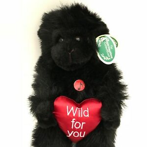 "Bearington Collection Gorilla Blush Black  9"" Jointed Retired Stuffed Animal"