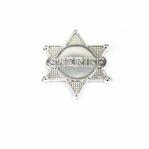 Silver Sherrif Police Badge Adults Kids Costume Fancy Dress Party Accessories