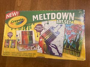 NIB Crayola Meltdown Art Set Includes Runny Rainbow & Neon Soup Crayon Packs