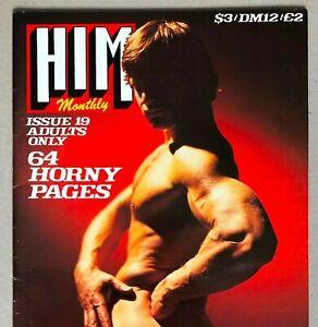 VINTAGE UK HIM MONTHLY MAGAZINE * #19 * 1979 * HTF! * GAY INTEREST