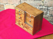 More details for antique japanese table top set of drawers