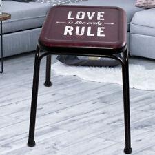 Retro Design Sitz Hocker Wohn Schlaf Zimmer Möbel Stuhl LOVE Aufdruck mehrfarbig