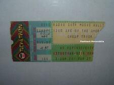 CHEAP TRICK / U.F.O. Concert Ticket Stub 1981 RADIO CITY MUSIC HALL NYC Rare