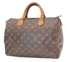 Authentic LOUIS VUITTON Speedy 30 Monogram Boston Handbag Purse #39757