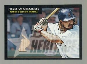 Manny Ramirez 2007 Bowman Heritage Piece of Greatness Game Used Bat #26/52