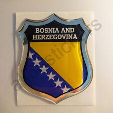 Pegatina Bosnia y Hercegovina 3D Escudo Emblema Vinilo Adhesivo Resina Relieve