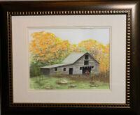 "JAY GOLTZ ORIGINAL Watercolor ""Minnesota Barn"" PAINTING"