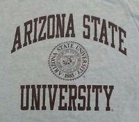 Arizona State Sun Devils University vintage t shirt L college football Gray