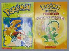 Pokemon Book Lot of 2 Pokemon Battle Frontier Grovyle Trouble Pokemon Chariza...