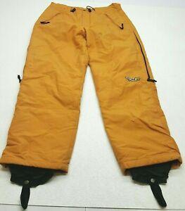 Vintage 1990s Wave Rave Large Orange Pants Snowboard Ski Made in USA Boulder WR