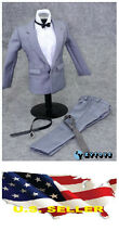 "❶❶**NEW** 1/6 clothes for 12"" Male Figure Gray Color Suit Full Set US seller❶❶"