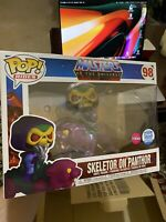 Funko POP! Rides: Masters of the Universe Skeletor on Panthor FLOCKED -in Hand!