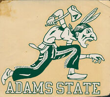 Adams State University RARE Original Decal 1930s NCAA College Indians sticker