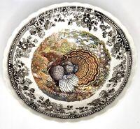"Queen's ""MAJESTIC BEAUTY"" Turkey Copper Engraving 8 7/8"" Coupe Soup Bowl ~ MINT"