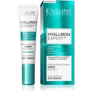 Eveline Hyaluron Expert Anti-Wrinkle Eye Cream Mature Dry & Sensitive Skin 15 ml
